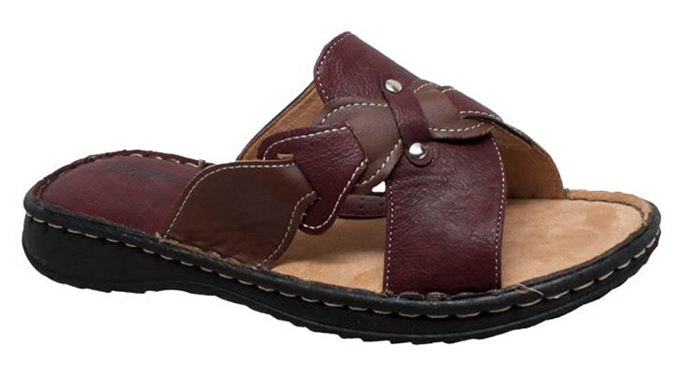 AdTec Women's Shaboom Comfort Sandal Slip-On Faux Leather Beach Shoe 8739-RB B07D3SYZNL 10