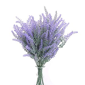 SVEN HOME Artificial Flowers Lavender Bouquet Plant for Home Bridal Decor Wedding DIY Floor Garden Office Patio Decoration Bundles Fake Flowers 106