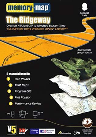 Ridgeway Colorado Map.Memory Map V5 The Ridgeway Os 1 25 000 Memory Map Amazon Co Uk