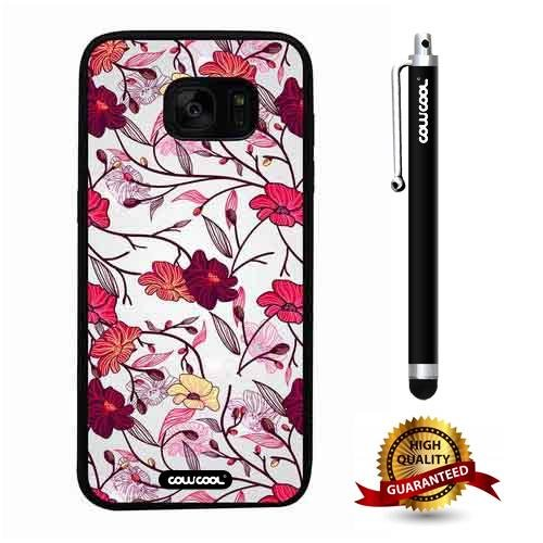 Galaxy S7 edge Case, Flower Case, Cowcool Ultra Thin Soft Silicone Case for Samsung Galaxy S7 edge - Hand Painted Orchid Vine (Best 80 Girl Vines)