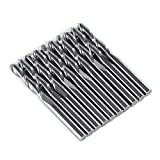 "10PCS 1/8"" 17mm Ball Nose End Mill CNC Router Bits Double Flute Spiral Set Tool Cutting"