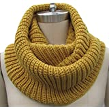 Generic Unisex Soft Knit Cowl Infinity Scarf Shawl Wrap Color Yellow