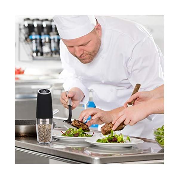 Macinapepe Elettrico, pepe Premium e macina di sale con macina sale elettrico durevole regolabile di precisione… 7