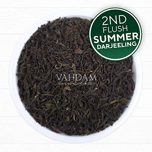 Premium Darjeeling Loose Leaf Black Tea, 2019 Second Flush Loose Leaf Tea; Certified Pure, Exceptional Quality Darjeeling Tea for Garden Fresh Black Tea and Kombucha; Make 112 Cups (8 Ounce)