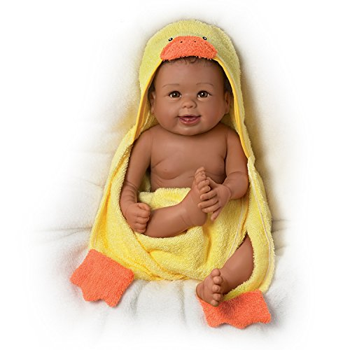 The Ashton-Drake Galleries Linda Murray Washable Baby Doll with Ducky Towel and Accessories, 17.5-Inch/44.5-cm