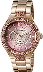GUESS Women's U0776L3 Trend-Right Rose Gold-Tone Sporty Multi-Function Watch