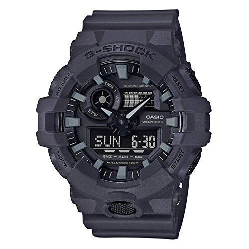 Time World G-shock Watch 200m (Casio Men's 'G Shock' Quartz Resin Casual Watch, Color Grey (Model: GA-700UC-8ACR))