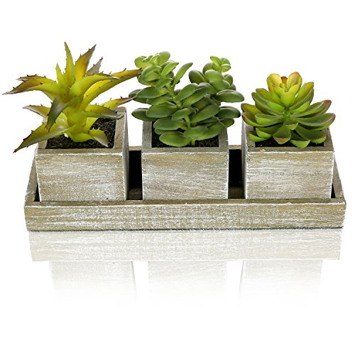 Realistic Artificial Succulent Planter Rectangular