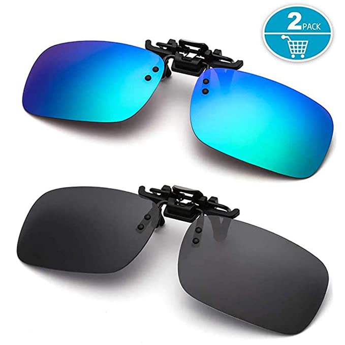 d44ac7fc830 Polarized Clip-on Sunglasses Anti-Glare for Driving Fishing Golf Flip-up  Sungasses