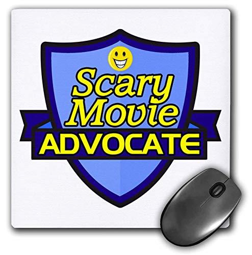 3dRose Dooni Designs - Funny Sarcastic Advocate Designs - Scary Movie Advocate Support Design - Mousepad (mp_242794_1)]()