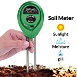 Soil pH Meter Gardening Tools 3-in-1 Moisture pH Sunlight Tester Kits Hydrometer for Farm Plants Lawn Herbs Flowers Trees Indoor Outdoor Green Care Accuracy Easy Read Acidity Indicator Yxaomite