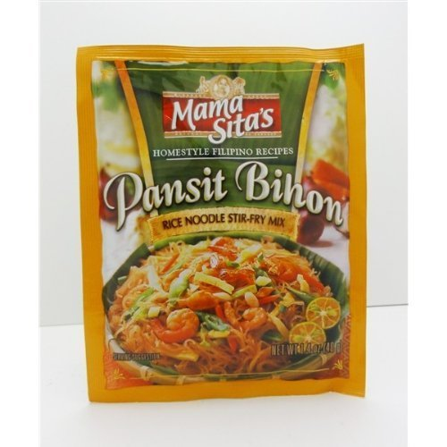 Mama Sitas   Pansit Bihon   Rice Noodles Stir   Fry Mix   6 X 1 4 Oz   40 G   Product Of The Philippines