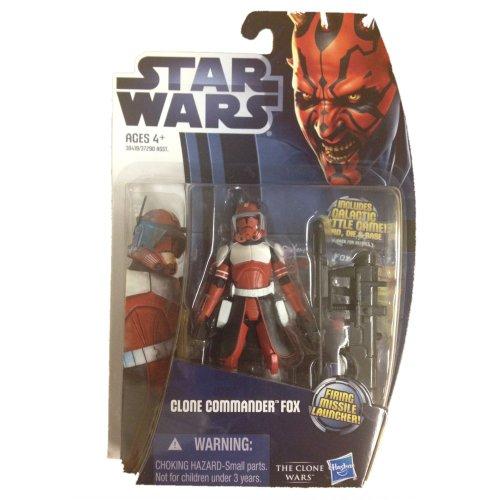 Star Wars The Clone Wars Clone Commander Fox Action Figure]()
