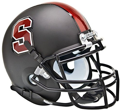 NCAA Stanford Cardinal Collectible Alt 1 Mini Helmet, Matte Black