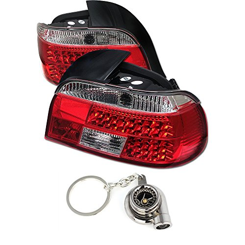 BMW E39 5-SeriesLED Tail Lights Red And Clear Lens+Free Gift Key Chain Spinning Turbo Bearing