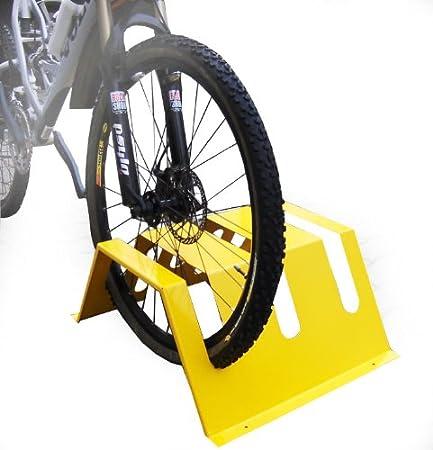 /Aparcabicicletas/ bikerast/ /Park Station moderna para bicicletas y Roller amarillo