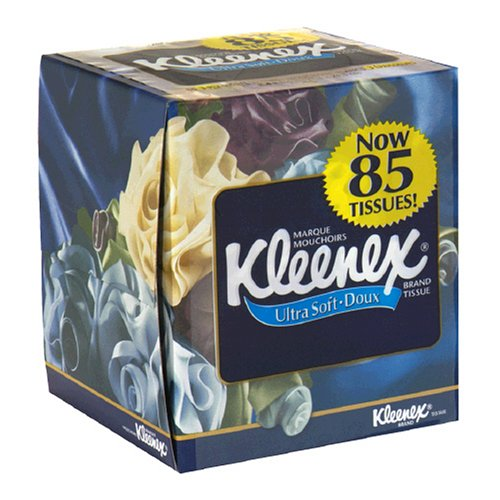 Kleenex Ultra Facial Tissue, Upright, White (85 Tissues)