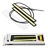 RioRand 2-Piece Waterproof Aluminum High Power 6W 6000K Xenon Slim COB LED Daytime Running Light (White)