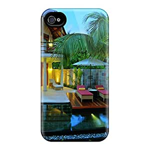 Iphone 4/4s SDUClvH1700vszQu Luxurious Beach Villa Tpu Silicone Gel Case Cover. Fits Iphone 4/4s
