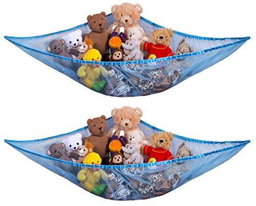 Jumbo Toy Hammock - Organize stuffed animals or children's toys with this mesh hammock. Looks great with any décor while neatly organizing kid's toys and stuffed animals. Expands to 5.5 feet. (2-Pack)