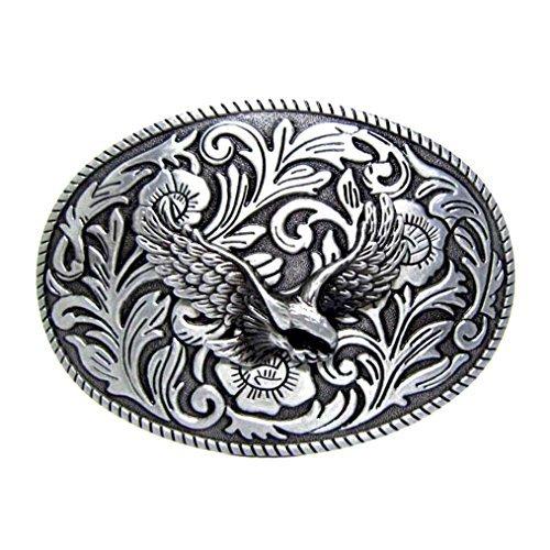 MASOP Oval Animal Eagle Cowboy Mens Metal Belt Buckle Suitable for 1.5 inch Belt (Eagle Metal Belt Buckle)