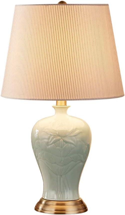 TRC-D Cerámica del dormitorio lámpara de mesa de noche lámpara de ...