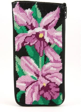 Watercolor Poppy Needlepoint Kit Eyeglass Case