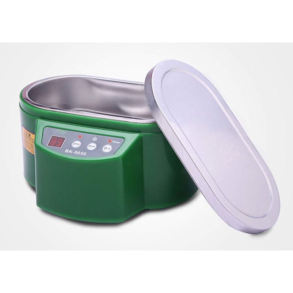 Green Mxmoonant 0.8L Ultrasonic Cleaner Domestic Cleaning Machine for Glasses Carburetors Jewelry Dentures Retainers Airbrush Teeth Tools