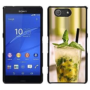 EJOY---Cubierta de la caja de protección para la piel dura ** Sony Xperia Z3 Compact ** --Macro Fruit Mojito Menta