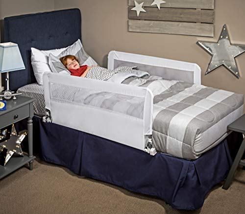 Regalo HideAway Double Sided Bed Rail Guard, with Reinforced Anchor Safety System (Full Rails Size Side Bed Bed For)
