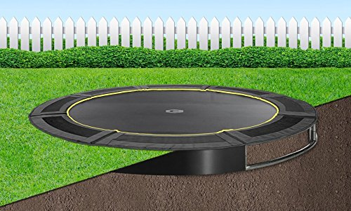 Flatground trampolin Capital Play 366 Schwarz Bodentrampolin