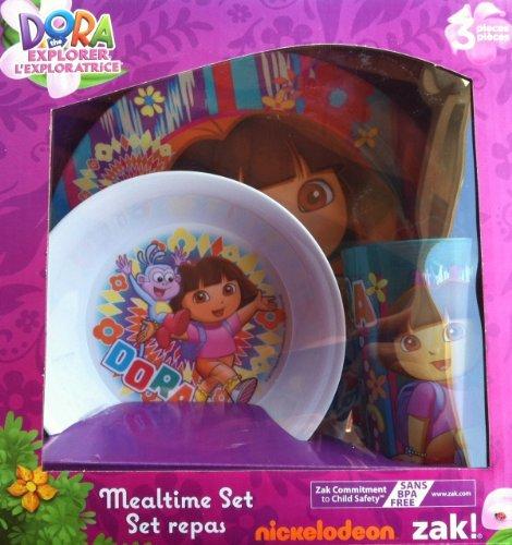 Zak Designs Dora 3-Piece Plate, Bowl and Tumbler Dinner Set