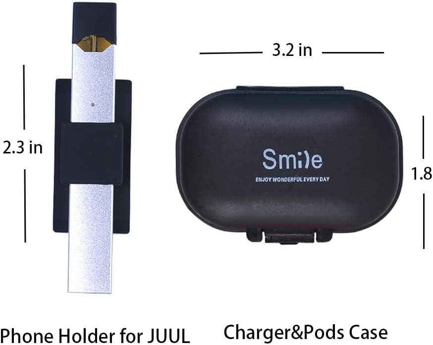 OrangeDance Tablets Car Dashboard Never Forget or Lose Your JUUL White Cell Phone Holder Compatible with JUUL Accessory Compatible with iPhone Samsung Galaxy