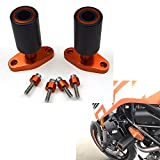 #6: New Orange CNC Frame Sliders Protectors Guard For KTM DUKE 125 200 390 2012-2017