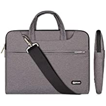 Qishare Laptop Case, Laptop Shoulder Bag, Multi-Functional Notebook Sleeve, Carrying Case with Strap for Chromebook MacBook HP Stream Samsung Acer Asus Dell Lenovo (11.6-12'', Gray)