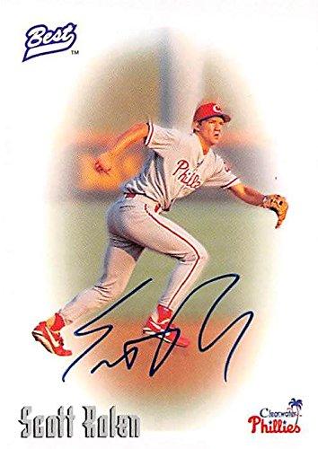 (Scott Rolen autographed baseball card (Philadelphia Phillies) 1996 Classic Best Certified Rookie)