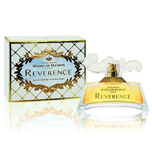 (Reverence by Princesse Marina de Bourbon | Eau de Parfum Spray | Fragrance for Women | Sweet Floral Scent with Notes of Spicy Pepper, Rose, and Musk | 100 mL / 3.3 fl oz)