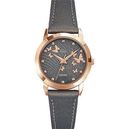Go Girl Only-698698-Reloj para mujer cuarzo, analógico, correa de cuero, color gris: Amazon.es: Relojes