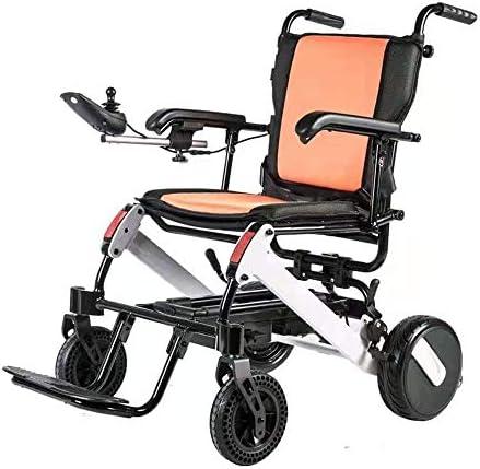 実用的 軽量電動車椅子 ブラシレスモータ、6Ahx2リチウム電池(25キロ寿命)、電動車いすとポータブル折りたたみ機能、走行速度:0-6KM 福祉 (Size : 6AH)
