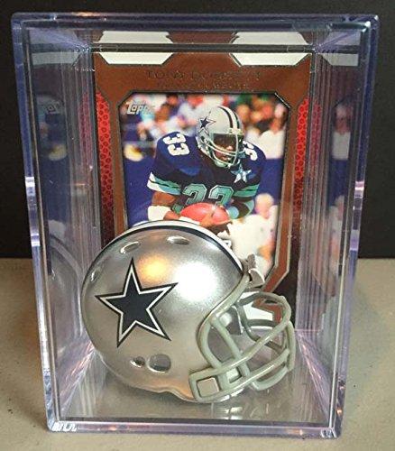 - Dallas Cowboys NFL Helmet Shadowbox w/ Tony Dorsett card