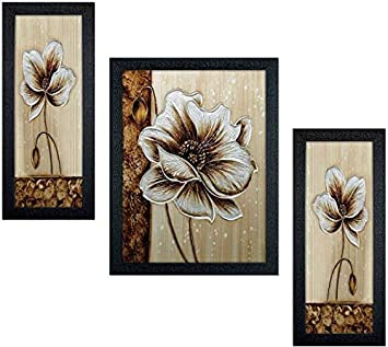 Incredible Flower Framed Painting (Wood, 15 cm x 3 cm x 38 cm, Set of 1, Textured UV Reprint)
