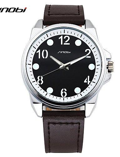 sbsghdx® SINOBI Marca para hombres Sport Hombre Piel muñeca cuarzo Relojes quemar al aire libre impermeable militar Relojes de pulsera: Amazon.es: Relojes