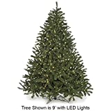 """6'Hx51""""W Virginia Pine LED-Lighted Artificial Christmas Tree w/Stand -Green"""