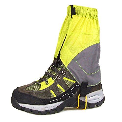 Polainas De Nieve, Inkach Senderismo Polainas Botas Al Aire Libre Cubren Legging Wrap Impermeable Zapatos Polainas Luz Verde