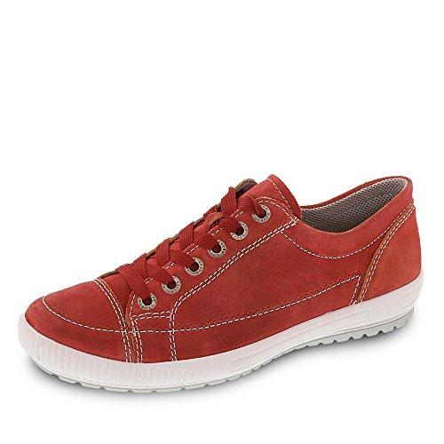 54 Mujer Zapatos Rojo Piel De Legero Para 00820 Cordones wR65R1q