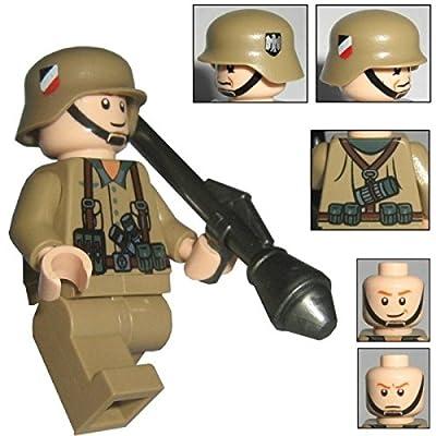 "'Custom Brick Design–Figurine–WW2Serie–Soldat Allemand Afrique Char de Corps de Grenadier """