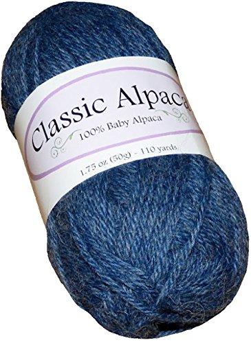 Baby Alpaca Yarn (Classic Alpaca 100% Baby Alpaca Yarn #1603 Cowboy Blue)