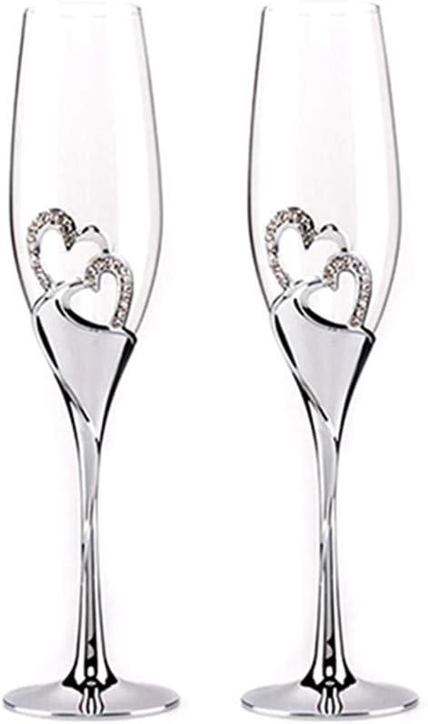 Pair of Black//white Glass Champagne Flutes Flute Glasses
