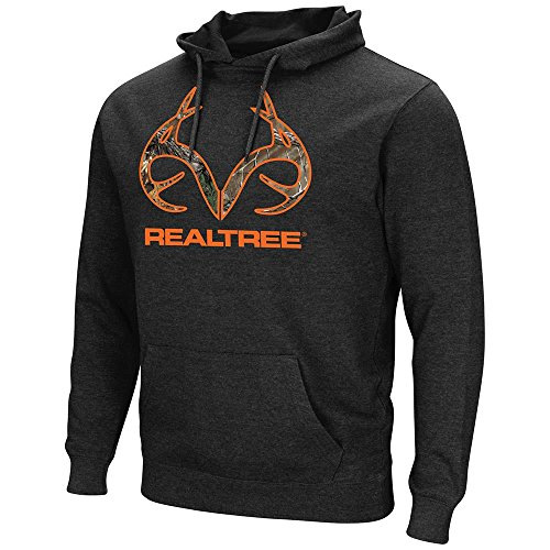 Colosseum Mens Realtree Dual Blend Fleece Pull-over Hoodie (Black(87036)) - L