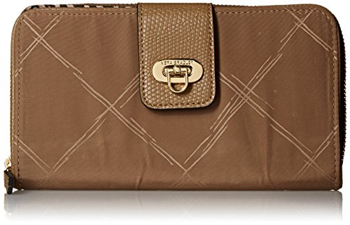 Vera Bradley Preppy Poly Wallet, Toast, One Size